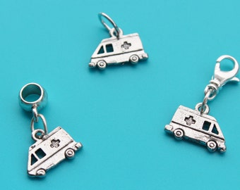 AMBULANCE Charm,Zipper Pull,Euro Bead,Custom,Paramedic,ambulance euro,ambulance,EMT,EMS,Nurse,Rescue,First Responder,Hospital,Emergency,111