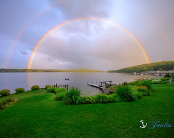 A Dream Come True ~ Lake Winnipesaukee, Meredith, New Hampshire, Church Landing, Lake Photography, Rainbow, Wall Decor, Joules, Artwork