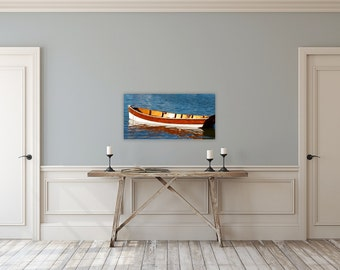 Ole Dory ~ Newport, Rhode Island, Canvas Gallery Wrap, Beach, Photography, Coastal, Decor, Wall Art, Nautical, Seascape, Boat, Joules, Gift