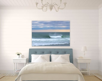 Point Judith Waves ~ Narragansett, Rhode Island, Canvas Gallery Wrap, Beach, Photography, Waves, Coastal, Decor, Wall Art, Interior Artwork