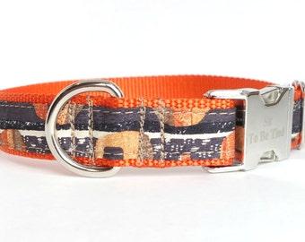 Orange Dog Collar, grey dog collar, charcoal grey, dog collar for boys
