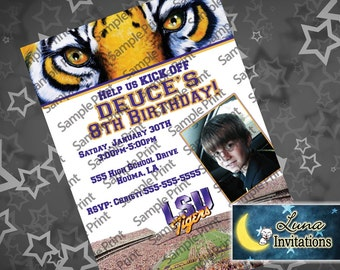 LSU Party Invitation (Louisiana State University)