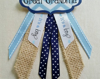 """Custom Colors Personalized Baby Shower Name Tag Corsage - (See """"Item Details"""" to Customize)"""