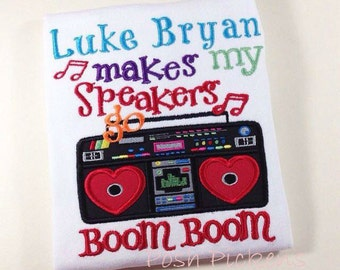 Valentine's Day BOOM BOOM speakers shirt for girl or boy