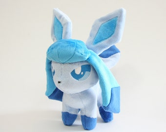 Pokemon Plush Glaceon Fan-made - Made-to-Order