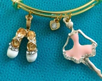 Ballet bracelet; ballerina bracelet; dancer bracelet; ballerina charm bracelet; dancer charm bracelet