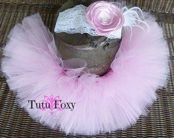 Pink Tutu Skirt, Pink tutu set, Pink Tutu with headband, Pink Tutu, Birthday Tutu,
