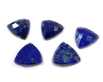 On sale - 1 pc - Natural - Lapis lazuli - 12x12x12mm - Trillion checker cut - Faceted cab - Semi precious stone - Loose Gemstone - SHST0425
