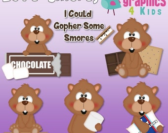 Love Smores Digital Clipart - Clip art for scrapbooking, party invitations - Instant Download Clipart Commercial Use