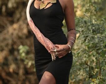 DESERT FLOWER short/long dress black