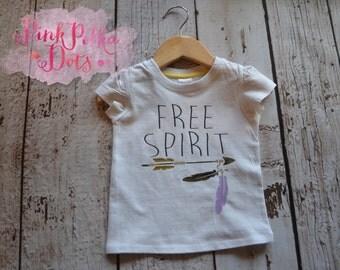 Free Spirit Tee, singlet, onesie child clothing, infant clothing, kids clothing