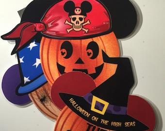 Stacked Pumpkin Halloween Disney Cruise Door Magnet