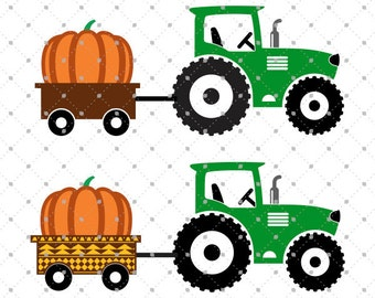 Pumpkin Delivery Tractor svg cut files, Harvest svg, Pumpkin svg, Tractor svg cut files for Cricut, Cut files for Silhouette, svg files
