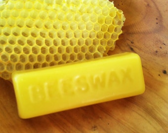 Pure Filtered Beeswax ~ 1 oz ~ natural beeswax block