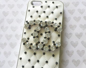 Black and White 3D bling phone case- 1pc Apple Iphone 5/5s Cell phone case sale