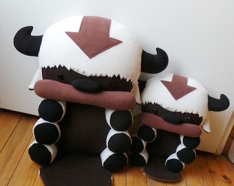 RESERVED for Cris Biewer ~Appa & Baby Appa plushies~ The Legend of Korra, Stuffed Flying Bison toy