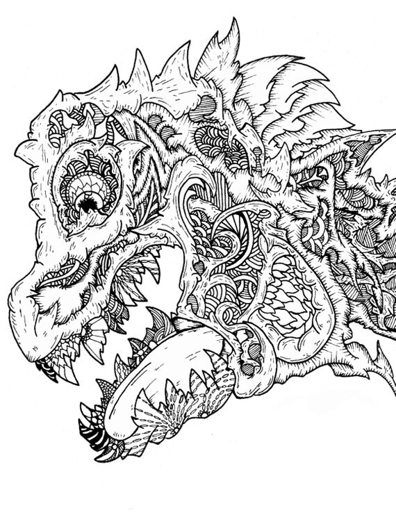 Complex coloring page AdultYoung