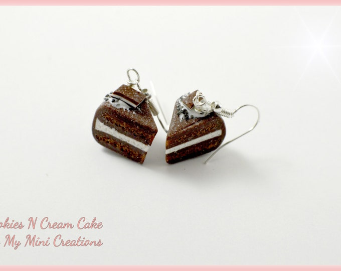 Cookies N Cream Earrings , Miniature food jewelry,  Miniature food,