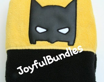 Hooded Towel, Batman Hooded Towel, Kid's Hooded Towel, Batman Bath Towel, Batman Beach Towel, Batman Pool Towel, Batman Towel