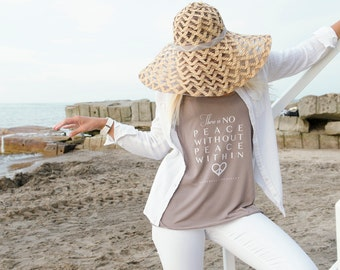 There is NO PEACE without PEACE within Ladies Yoga Tank