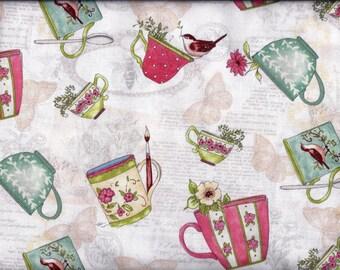Tea Cup Time Curtain Valance