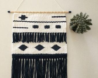 Navy/denim weaving