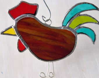 Rooster and Hen Suncatchers