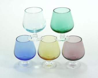 Snifter Glass Miniature Brandy Multi-Colored