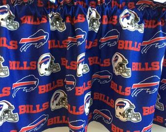 "Buffalo Bills Football Sports Handmade Curtain Valance Panel 56"" x 13"""