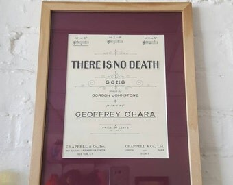 Framed Vintage Sheet Music / There Is No Death