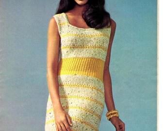Women's Retro Summer Dress Knitting Pattern