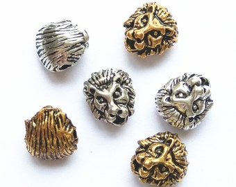 10pcs 7x11x12mm Lion Beads Charm Jewelry Beads Accessories Supplies ML