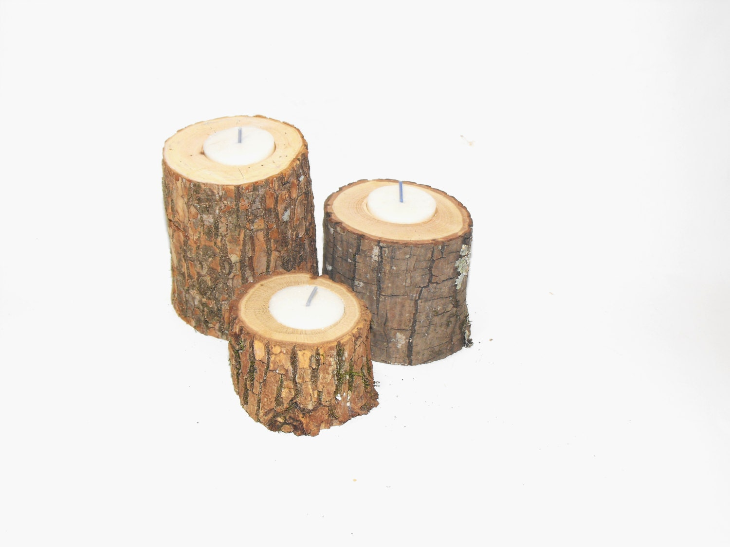 200 tree branch candle holders rustic candle by ozarkcraftwood for Rustic wood candle holders