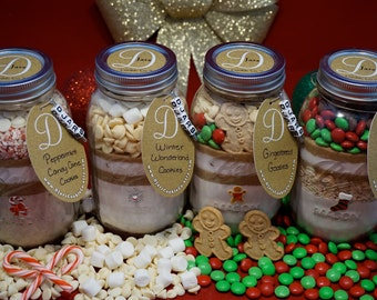 Christmas Mason Jar cookie Mix 4 PACK!