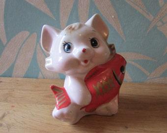 Vintage porcelain 'Lucky Cat' money box