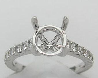 0.65CT F SI 18K White Gold Diamond Setting-IDJ013702