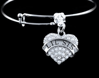 Lil Sis Bracelet Lil sis charm bracelet Lil sis Jewelry Lil sis gift baby sis gift baby sis bracelet little sister bracelet