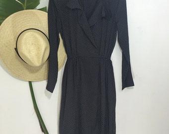 The Odette Day Dress    Vintage Dress   Black Dress   Fall Dress   Date Dress   Dinner Dress   Small Medium