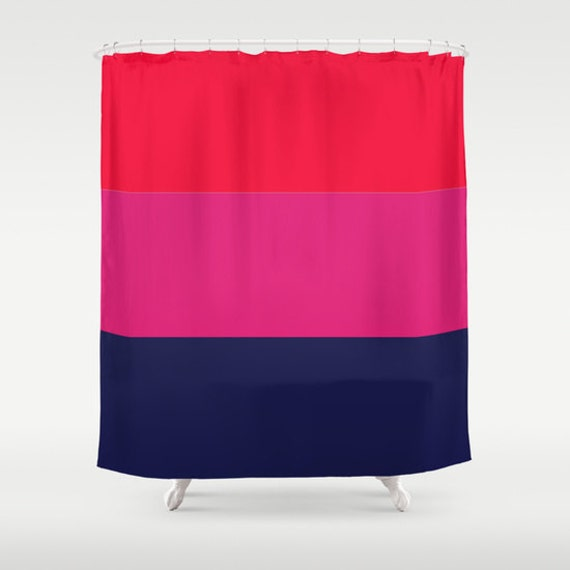 Shower Curtain Pink Red Navy Bathroom Shower Curtain