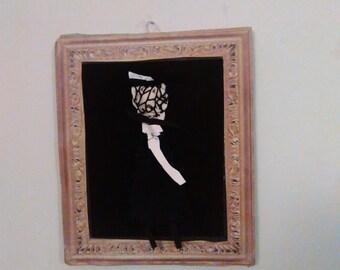 Handmade doll- Frame included