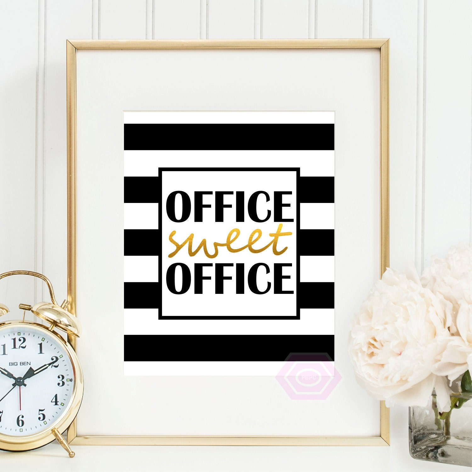 Cute Office Wall Decor : Office sweet printable art cute decor faux