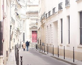 Romantic Paris Photo, Romantic Paris Print, Paris Photography, Paris Home Decor, Paris Love Print, Large Format Print, Paris Marais Print