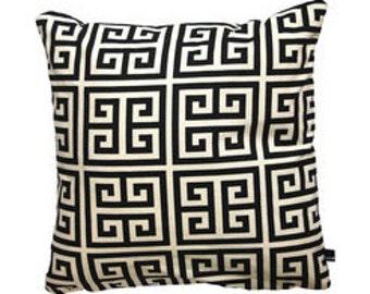 cushion, cushion cover, geometric, blackandwhite, 50 x 50 cm, cotton, by kissenkönigin