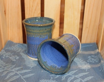 Set of Two Pottery  Glasses