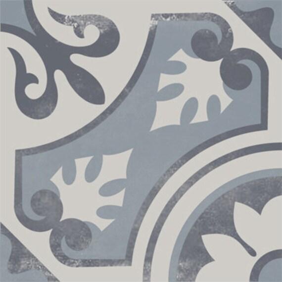 vinyl floor tile sticker floor decals carreaux ciment encaustic messina tile sticker pack in. Black Bedroom Furniture Sets. Home Design Ideas
