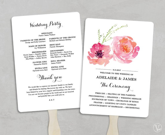 church fans template - printable wedding program fan template wedding fans diy
