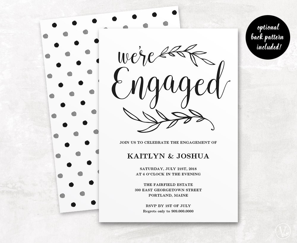 Invitation Card Template Video: Engagement Invitation Template Printable Engagement By