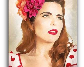 Paloma Faith Canvas Art Print A1 A2 A3 A4