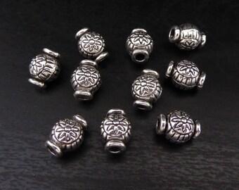 Spacer Bead - Barrel 10 Pieces - Silver (SBBR)