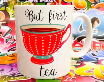 But first, tea. Vintage tea cup, made to order
